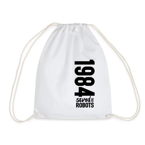 1984 / Saved By Robots Premium Tote Bag - Drawstring Bag