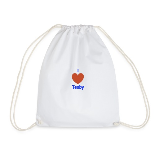I love Tenby - Drawstring Bag