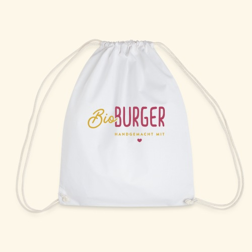 BIO BURGER - Logo Querformat - Turnbeutel