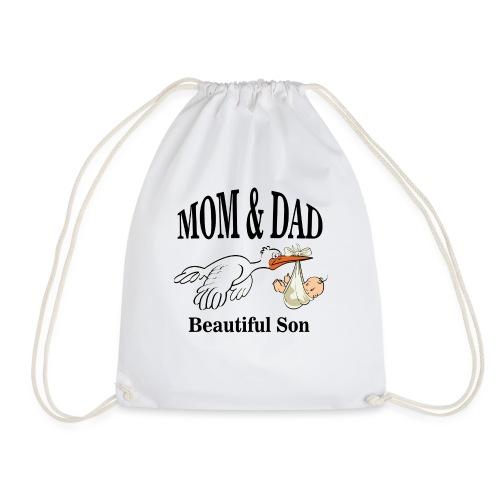 Mom & Dad Son - Drawstring Bag
