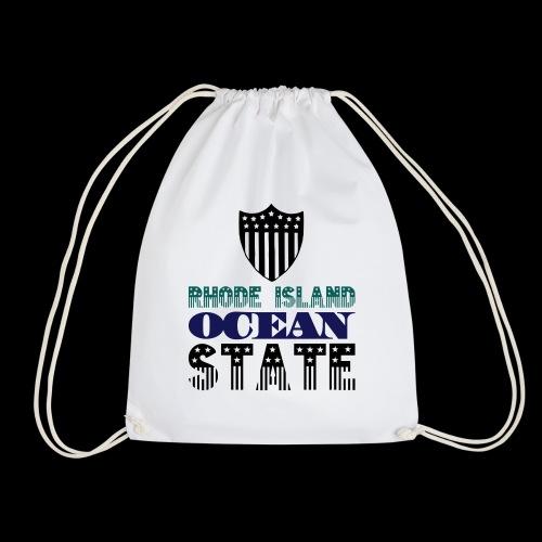 rhode island ocean state - Drawstring Bag