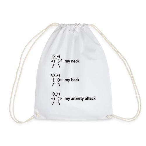 neck back anxiety attack - Drawstring Bag