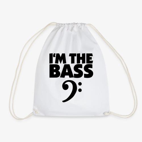 I'm the Bass für Bassisten und Tieftöner - Turnbeutel