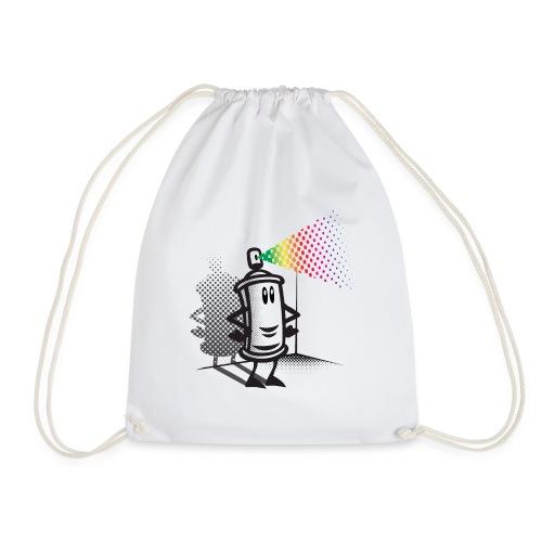 Happy paint spray - Drawstring Bag