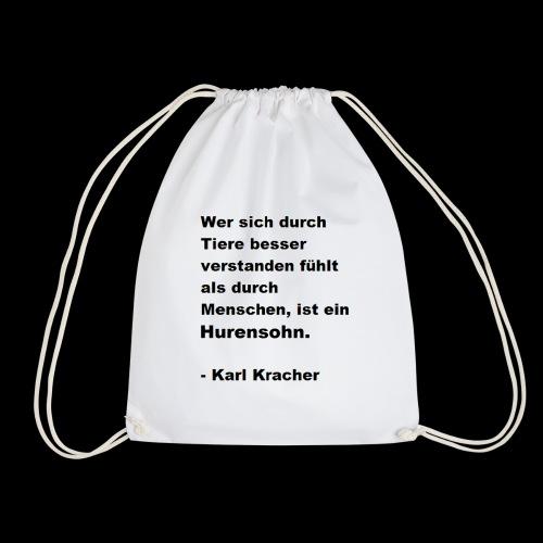 Josef Jugend Karl Kracher Zitat Tiere - Turnbeutel