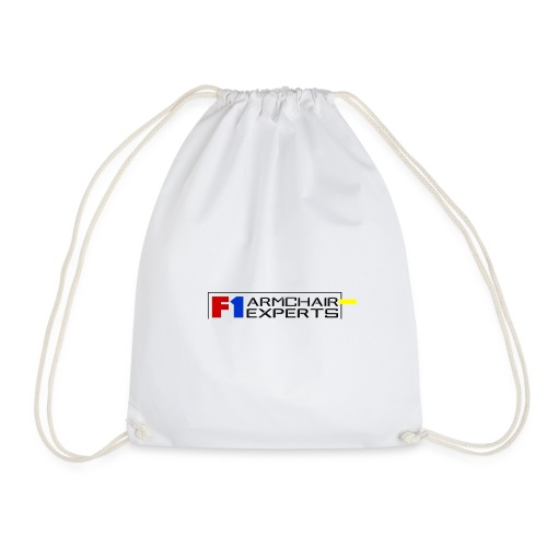 F1 Armchair Experts Logo BK - Drawstring Bag