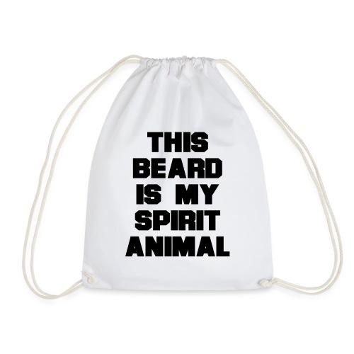 Dieser Bart ist mein Geist Tier - Turnbeutel