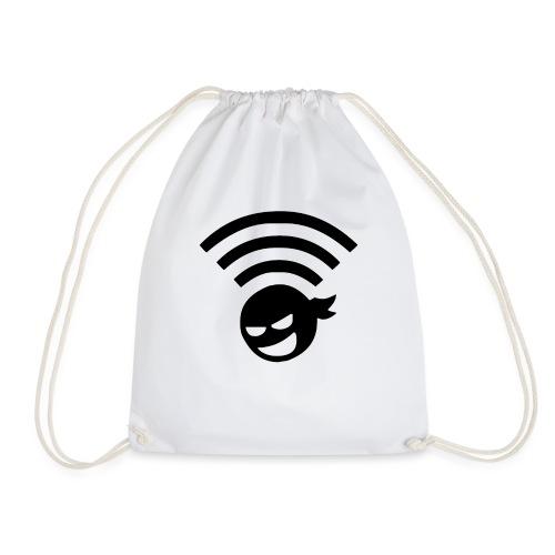 WiFi Wlan Ninja Symbol - Turnbeutel