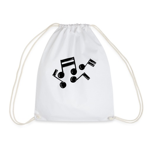 Musik Symbol Noten Musiker Musikerin spielen - Turnbeutel
