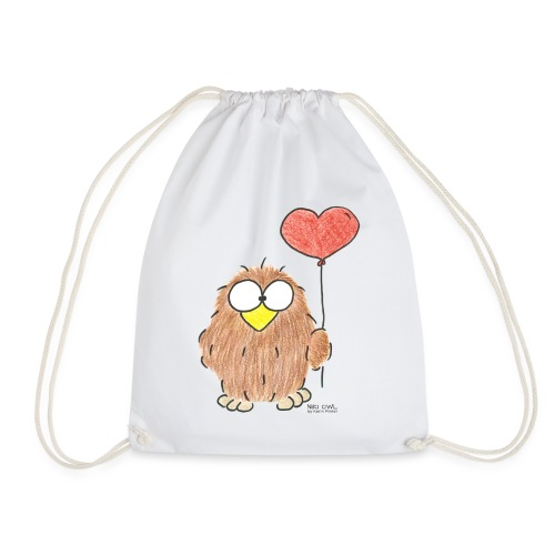 Niki Owl Amor/Love - Drawstring Bag