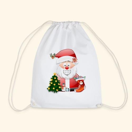 Father Christmas Scene 5 - Drawstring Bag