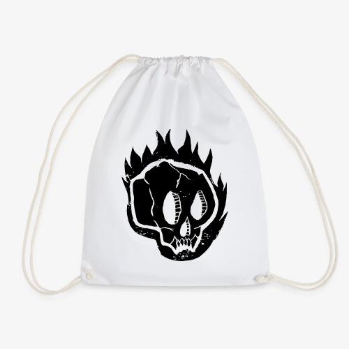 Burning skull - Sac de sport léger