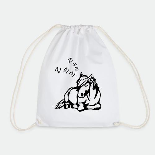 ZZZ Schlafendes Pferd - Drawstring Bag
