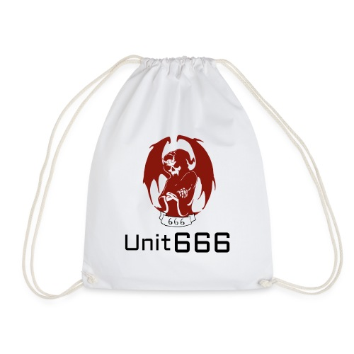 Unit 666 Front Print with text type 2. - Drawstring Bag