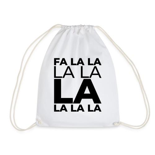 Weihnachtsgrafik weihnachtslied Falalalala - Turnbeutel