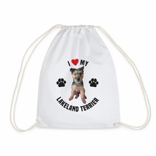 I heart my lakeland terri - Drawstring Bag