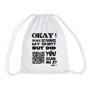 QR shirt for nosy people - Gymtas