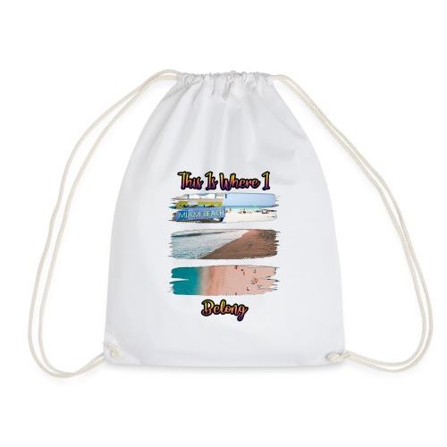 Beach - Drawstring Bag