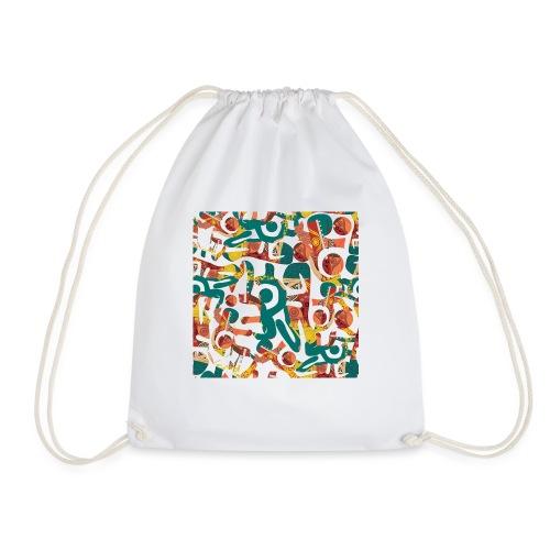 Pattern in graffiti look - Drawstring Bag