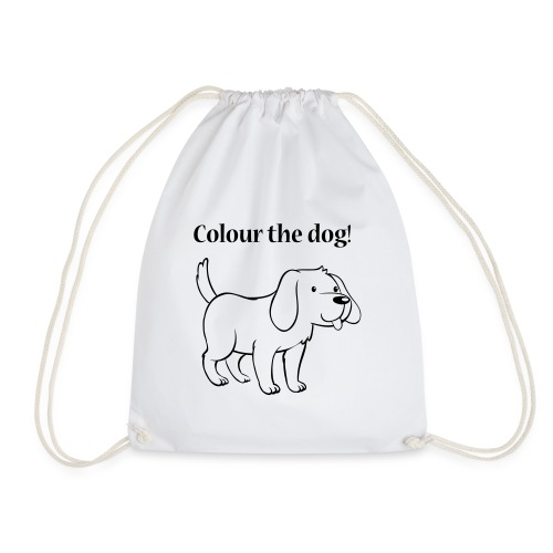Colour the dog! - Drawstring Bag