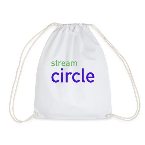 stream circle - Turnbeutel