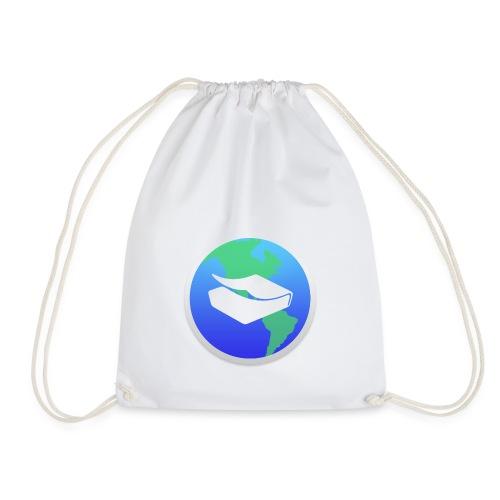 kaeru world icon - Drawstring Bag