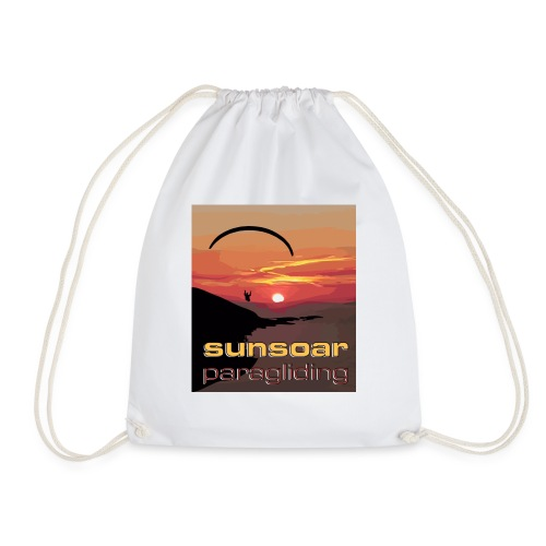 sunset flying - Drawstring Bag