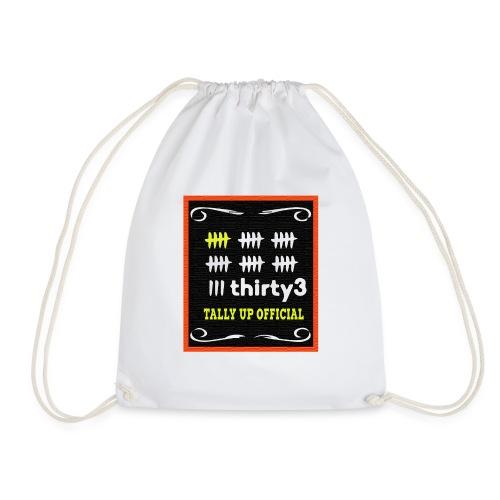 33 Tally up Chalkboard Vivid - Drawstring Bag