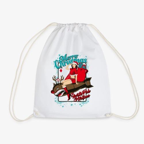 SEX BOMB AIRLINE - Weihnachten-Pin-Up-Sexbombe - Turnbeutel