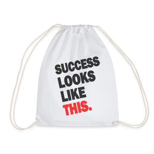 SUCCESS LOOKS LIKE THIS (White) - Drawstring Bag