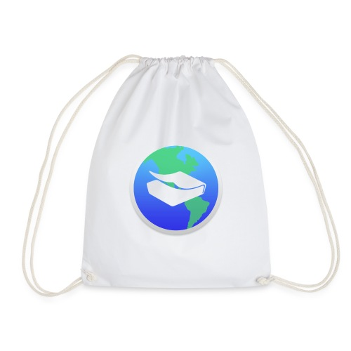 kaeru world icon - Drawstring Bag