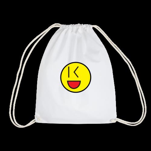 Cool Wink Smiley Hoodie - Drawstring Bag
