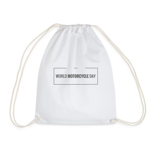World Motorcycle Day 2016 Official T-Shirt ~ White - Drawstring Bag