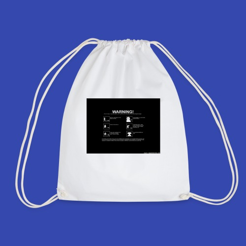 Warning - Drawstring Bag
