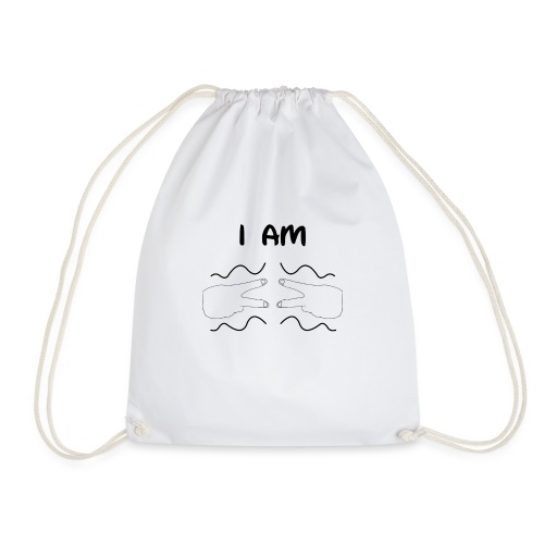 I Am Autism (Black) - Drawstring Bag