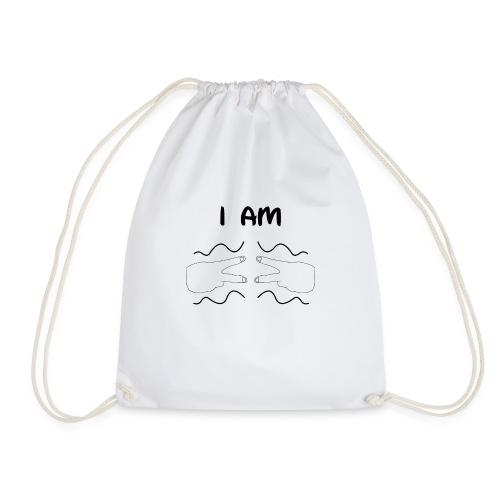 I Am Autism (Black) - Drawstring Bag