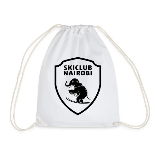 Skiclub Nairobi Wappen 1-farbig - Turnbeutel