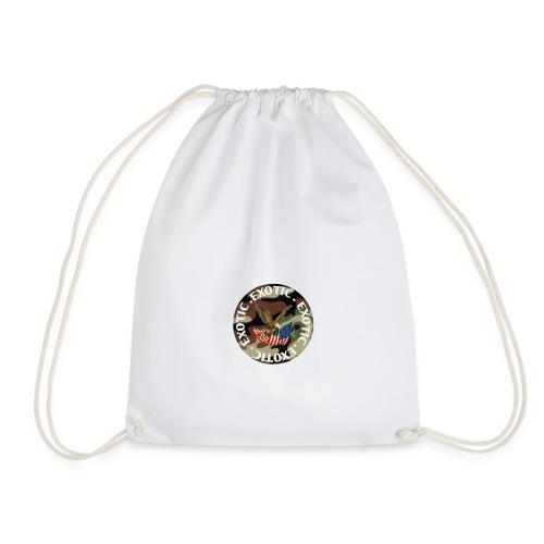 EXOTIC logo and circle - Drawstring Bag