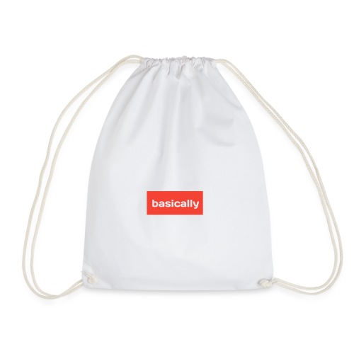 Basically merch - Drawstring Bag
