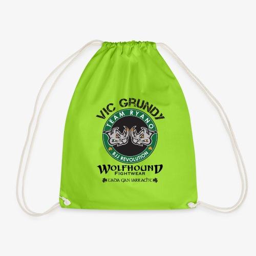 vic grundy back png - Drawstring Bag