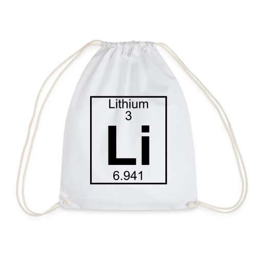 Lithium (Li) (element 3) - Drawstring Bag
