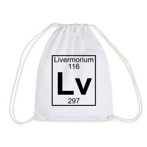Livermorium (Lv) (element 116) - Drawstring Bag