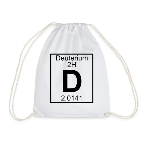 D (Deuterium) - Element 2H - pfll - Drawstring Bag