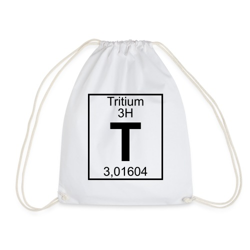 T (tritium) - Element 3H - pfll - Drawstring Bag