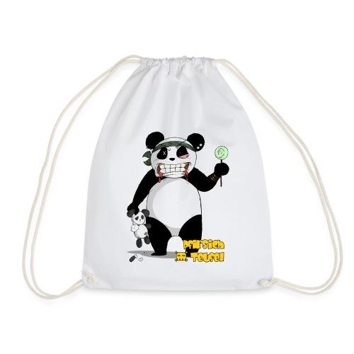 panda004 shirt gelb png - Turnbeutel