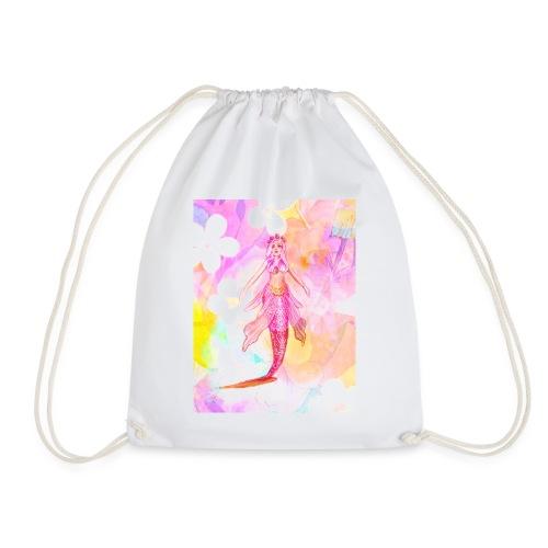 ®La Sirène de Fleurs (The Flower Mermaid) - Drawstring Bag