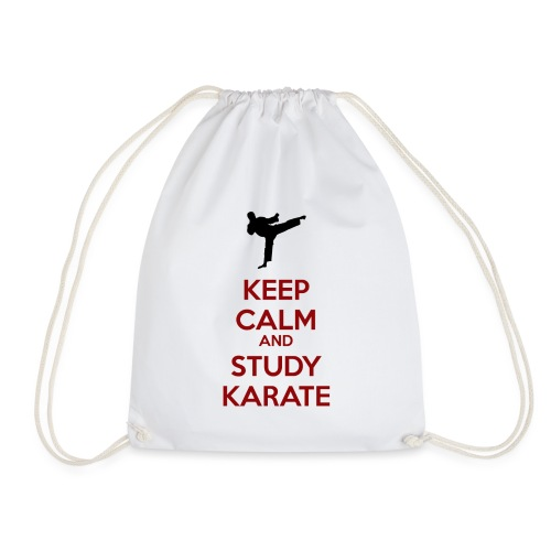 Keep Calm and Study Karate - Drawstring Bag
