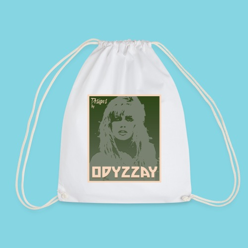 80's Girl Olive - Drawstring Bag