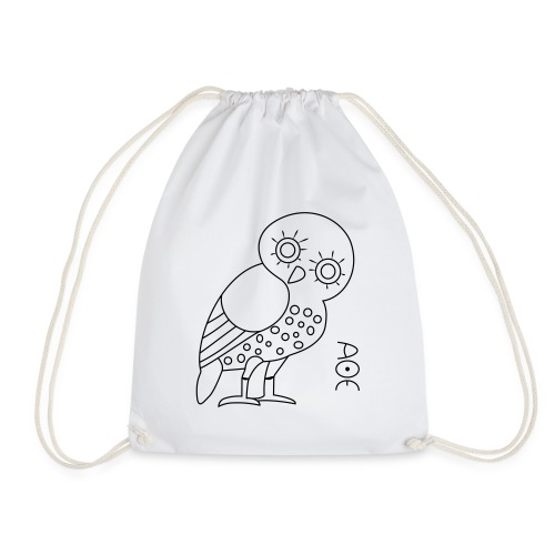 Owl of Athena - Drawstring Bag