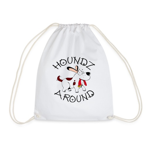 Houndz Around - Drawstring Bag